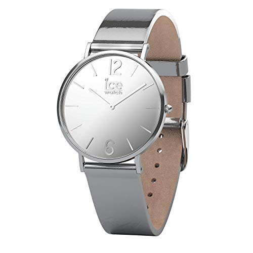 ICE-WATCH - CITY sparkling - Metal Silver - Women's wristwatch with leather strap - 015089 (Small)