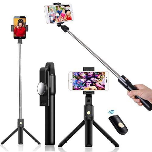BOBO-Y Palo Selfie Trípode, Selfie Stick Trípode Inalámbrico con Control Remoto, 360°Rotación…