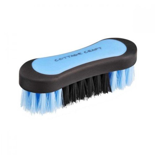 Cottage Craft - Cepillo para la Cara del Caballo (tamaño Mediano), Color Azul