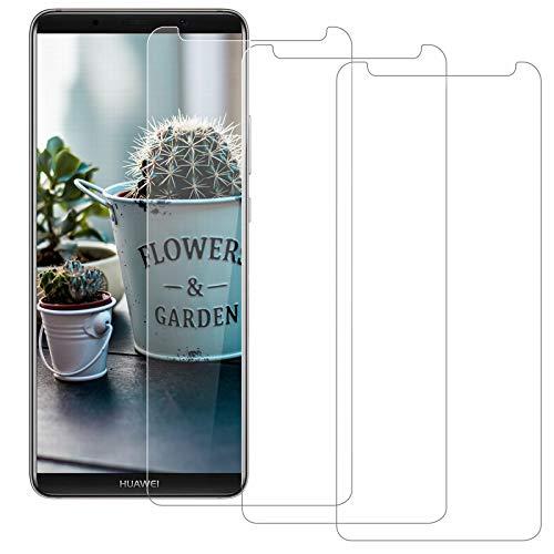 BOBI [3 Pezzi] Vetro Temperato per Huawei Mate 10 Pro, Facile da installare, HD Senza Bolle, Anti Graffio, Anti-Impronta 9H Durezza Protettivo Schermo