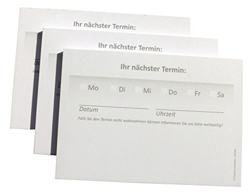 10 x Terminblöcke Terminblock Nr.3 -Terminzettel Termine - Praxis Studio Ärzte Frisör, Maniküre (22679_96N)