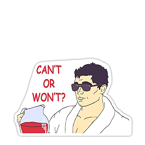 Acher Sitcom Sterling Archer Can't Or Won't Sticker 2'