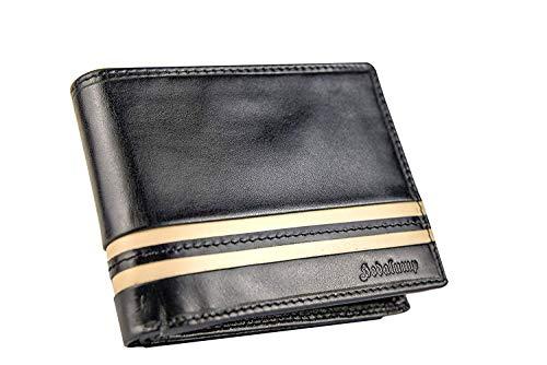 Hodalump Herren Leder Geldbörse mit RFID-Schutz Geldbeutel mit Geschenkbox