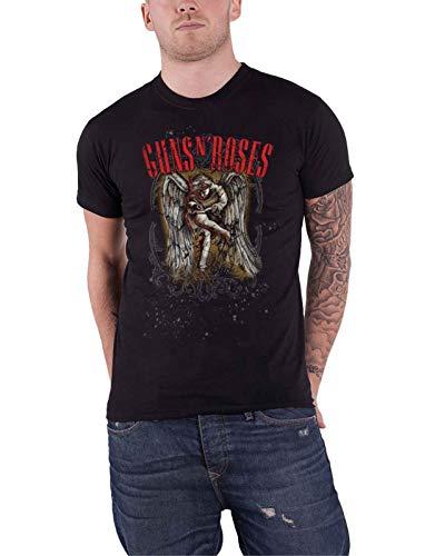 Guns N' Roses T Shirt Sketched Cherub Classic Band Logo Oficial De Los Hombres