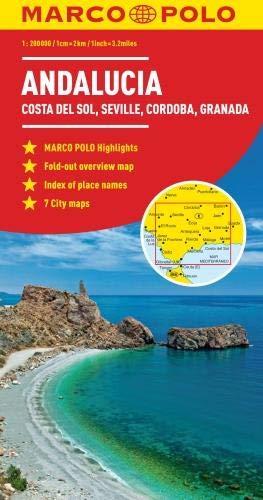 Andalusia, Costa Del Sol, Seville, Cordoba, Granada Marco Polo Map (Marco Polo Maps)