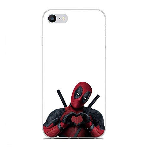 X-Art Transparent Fundas Slim Liquid Flexible Case Back Cover for Apple iPhone 7/8-Deadpool-Weapon 5