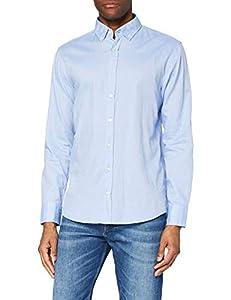 BOSS Herren Freizeithemd Mabsoot, Blau (Bright 521), Large (Herstellergröße: L)