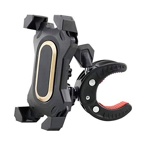AMOYEE Teléfono de Bicicleta Monte Bicycle Teléfono Teléfono Universal Mountain Handlebar Cradle Anti-Shake Compatible con el teléfono y el teléfono Celular más Inteligentes