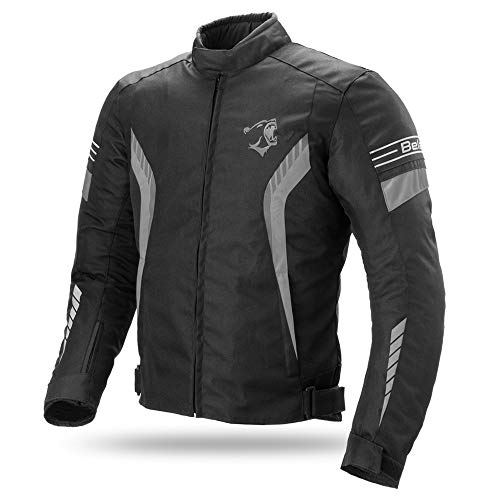Bela Chaqueta Textil para Moto Bradley CE Aprobado Chaqueta de Moto (L,...
