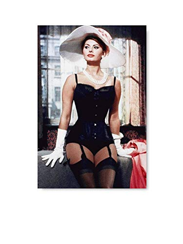 Funny Ugly Christmas Sweater Sofia Loren Poster Decor Italian Movie Poster Pin Up Girl Model Old Movie Star Sexy Sophia Loren Wall Art Sophia Loren Unframed Portrait 8' x 12'