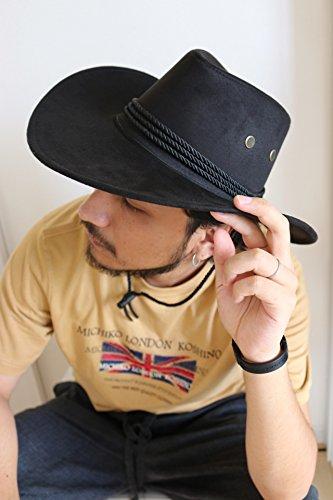 テンガロンハット ブラック ウエスタン ハット アメリカン 演劇 つば広 カウボーイ 西部 [0371]