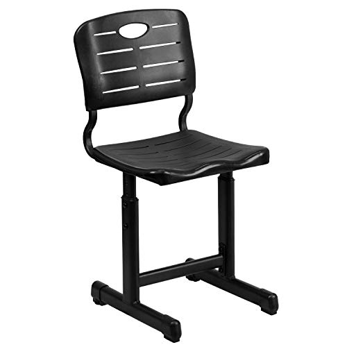 Flash Furniture Adjustable Height Black Student Chair with...