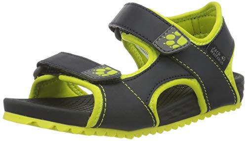 Jack Wolfskin OUTFRESH Deluxe Sandal K Sportsandale, Grau (Phantom/Lime 6373), 32 EU