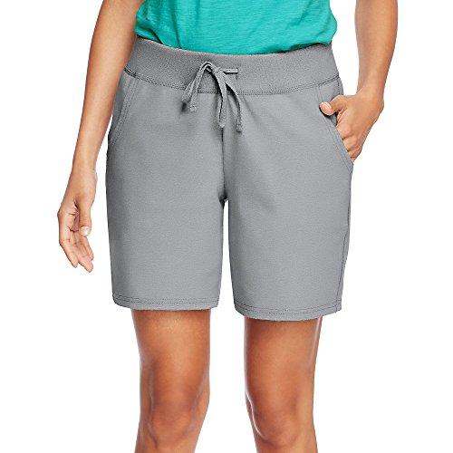 Hanes by Womens Jersey Pocket Short O9264_Light Steel_L