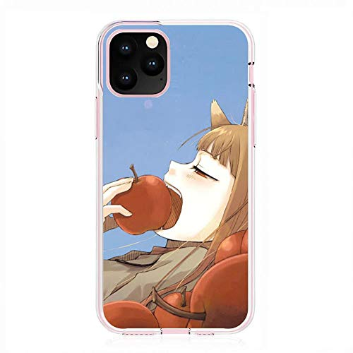 Easterm Transparent Soft Silicone Gel Edge Flexible Case Coque for Apple iPhone 11 Pro, Spice-Wolf Girl Wisewolf-Holo 4