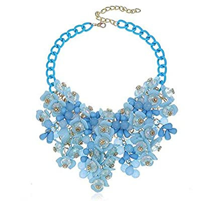 Kexuan Fashion Floral Statement Necklace Choker Necklace And Jewelry Sets For Ladies
