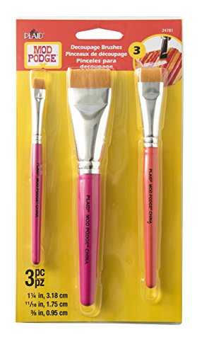 Mod Podge 24781 Furniture Brush Set - 3 brush set