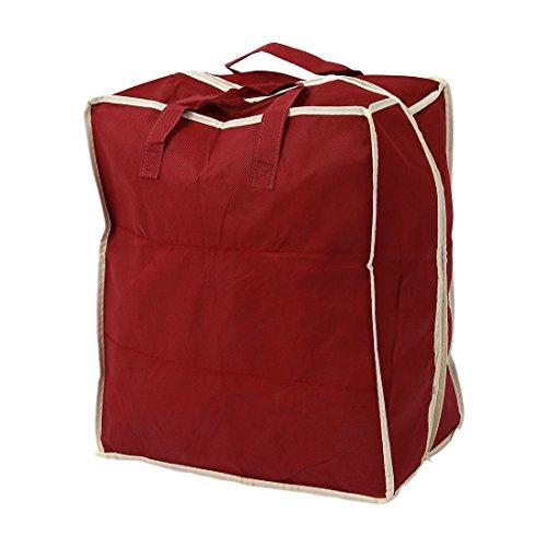 SODIAL(R) Organizador de almacenamiento de zapato plegables ventilacion impermeable de viaje rojo Armario de moda portatil Bolsas de zapatos para mujeres hombres