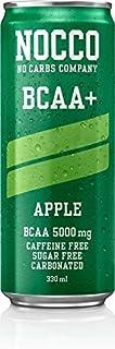 NOCCO (No Carbs Company) BCAA (sin cafeína) - Manzana (12 x 330 ml)