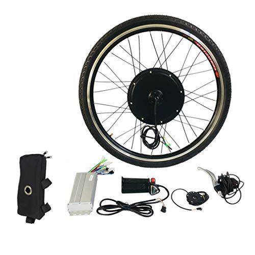 Dpatleten Rueda Trasera Motor de Bicicleta eléctrica Kit de conversión de Bicicleta eléctrica 36V 250W 26 Pulgadas (Negro y Plateado)