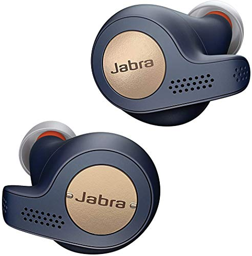 Jabra Elite Active 65T Auricolari, Cuffie Sportive con Funzione Passive Noise Cancelling e Sensore di Movimento per l`Attività Fisica, Chiamate e Musica Wireless, Blu Ramato