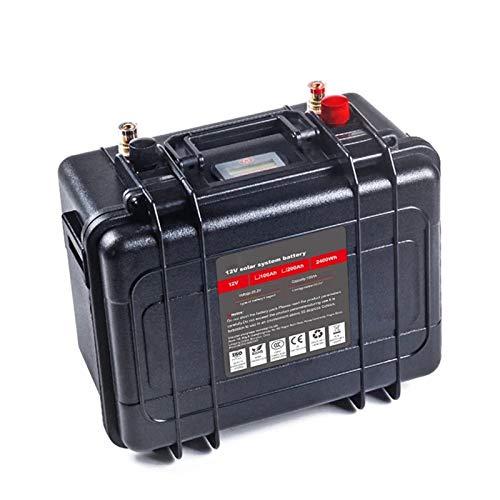 Batería De Fosfato De Hierro Y Litio Lifepo4 De Ciclo Profundo De 12 V Y 100Ah,Bms Incorporada,Para Carrito De Golf Ev Rv,Batería De Almacenamiento De Energía Solar ( Color : 12V 100Ah+10A charger )