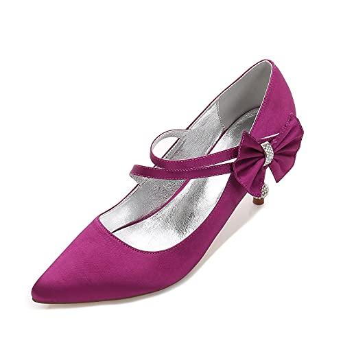 MNVOA Zapatos De Novia para Mujer Tacón De Gatito con Diamantes De...
