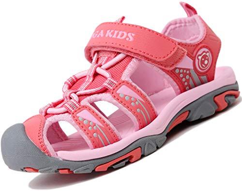 Verano Sandalias para Niñas Casual Sandalias de Zapatillas de Trekking y Senderismo Antideslizantes Sandalias de Playa Rosa Gr.27