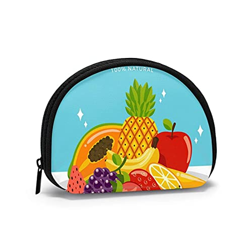 Delicate and Fresh Fruit Piles Travel Shell Cosmetics Storage Bags Portable Toiletry Bags for Women Girl Small Coin Purse Bag Wallet Coin Bag
