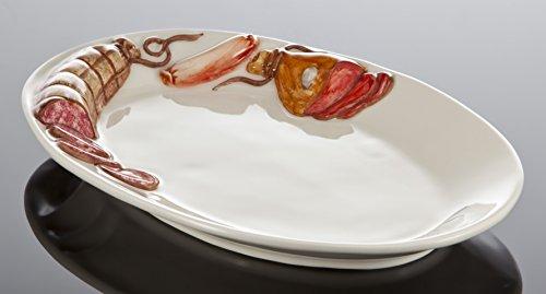Bassano italienische Keramik ovaler Wurstteller 30x20