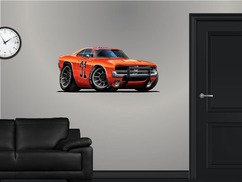 36' Dukes of Hazzard General Lee 1969 Dodge Charger car Wall Graphic Sticker Decal Man Cave Garage Den Art Decor NEW !!