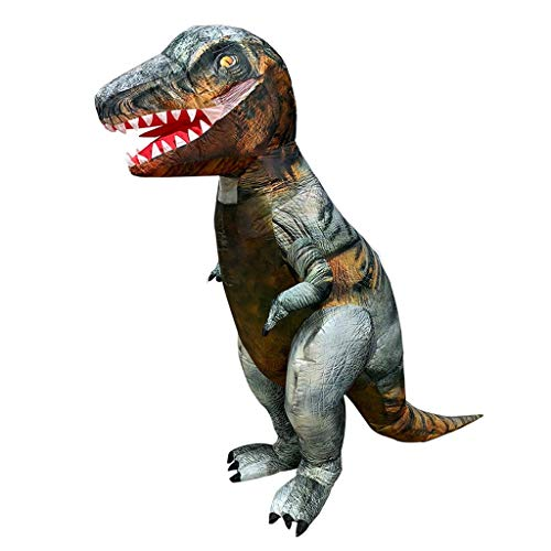 LXLTLB Trajes Inflables Halloween Adulto Inflable T Rex Dinosaur Partido Dinosaurio Hinchable Traje Funny Dress Brown