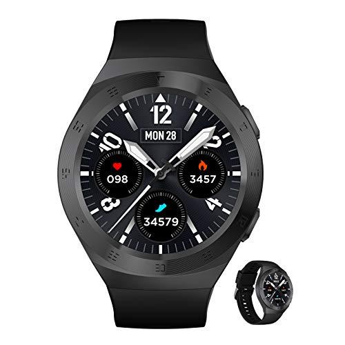 BNMY Smartwatch Reloj Inteligente con Pulsómetro,Cronómetros,Calorías,Monitor De Sueño,Podómetro Monitores De Actividad Impermeable IP68 Smartwatch Hombre Reloj Deportivo para Android iOS,F
