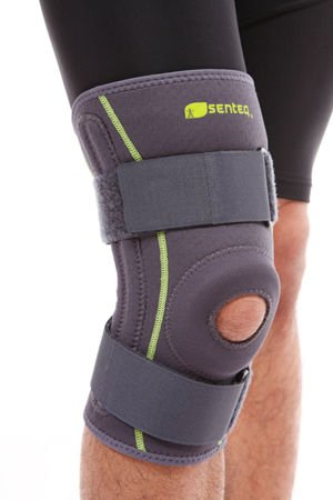 SENTEQ Adustable Hinged Knee Brace with Spring - Best Support for Knee, ACL, Patella Tendon & Meniscus Injuries - Athletic Compression Brace for Running & Arthritic Joint Support (SQ1 L007 M)