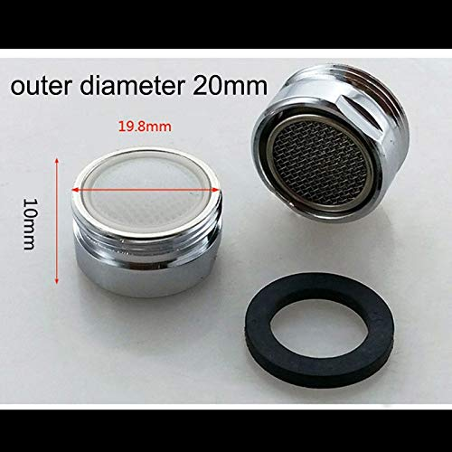 SANKUAI L-TAO-PULLEY, 1pc Water Filter Adapter Silver Water Saving Faucet Tap Aerator Water Purifier Filter Nozzle With Rubber Washer Kitchen Accessories (Color : Light Grey)