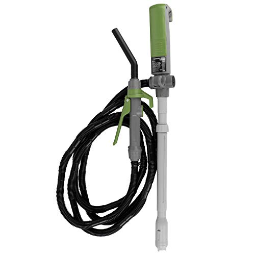 TERA PUMP TREP04L Multi-Purpose Rechargeable Battery Powered Fuel Transfer Pump - Extra Long 10 FT Hose, Flow Controller, Adjustable Suction Tube - 2.85 Gal per min