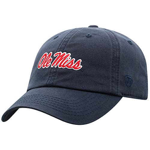 Top of the World Mississippi Old Miss Rebels Women's Adjustable Casual Relaxed Fit Team Icon Hat, Adjustable