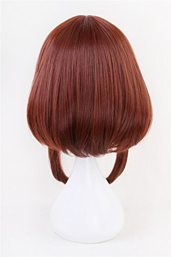 Xingwang Queen Anime Cosplay Wig Short Brown Bob Christmas Party Wigs with free Cap