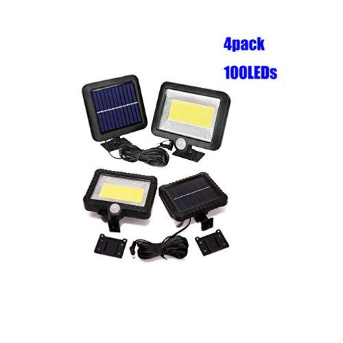 DDELLK 30W 100LED zonnelampen met bewegingssensor, COB schijnwerper, buitenverlichting, veiligheidslamp, split Solar Muur Light voor tuin, garage