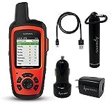 Garmin InReach Explorer+ Handheld Satellite Communicator with GPS Navigation, Maps and Sensors with Wearable4U Bundle (+ Power Bank)