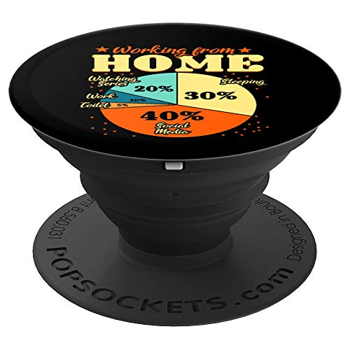 Working From Home Activities Chart | Funny Home Office Life PopSockets Grip and Stand for Phones and Tablets