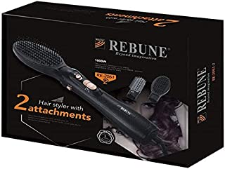 REBUNE RE-2061-2 Electric Comb Brush 1000W Hair Styling Tool with 2 Brushes