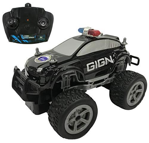 TURBO CHALLENGE SUV GIGN-Licencia Oficial - Negra -099201-Coche teledirigido - Frecuencia 2,4 GHz - Listo para enrollar - Escala 1/20 - Pilas no Incluidas, a Partir de 6 años, 99201, Color Negro