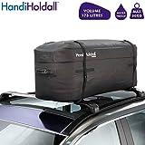 HandiHoldall - Sac de Toit étanche 175 L / Coffre supérieur (Noir) - Grand Porte-Cargaison - Base Solide Pliable