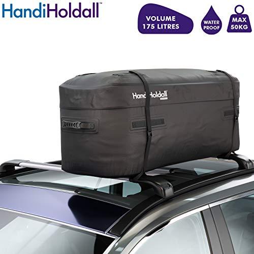 HandiHoldall - 175L Waterproof Roof Bag / Top Box (Black) – Large Cargo...