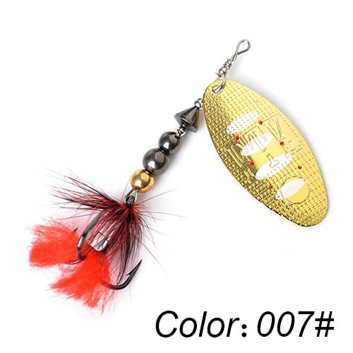 1pc Spinning Bait 8g/14g/20g Metal Fishing Bait Hard Bait Bait with Feather Tweeter Carp Pike Fishing Tackle - 007,14.0g