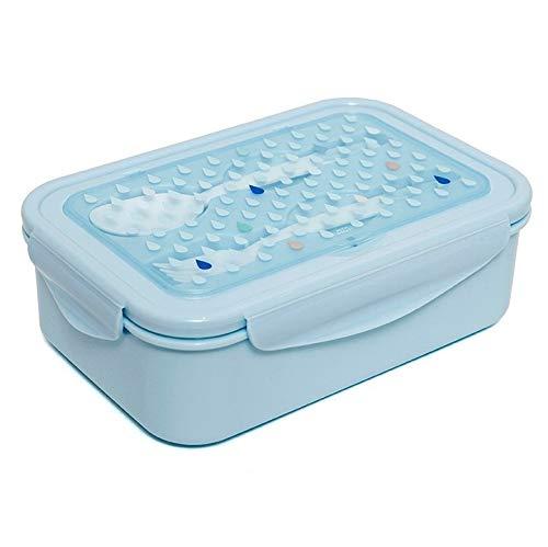 Petit Monkey- Bento Lunch Box Drops Blue, Color Azul (224302)