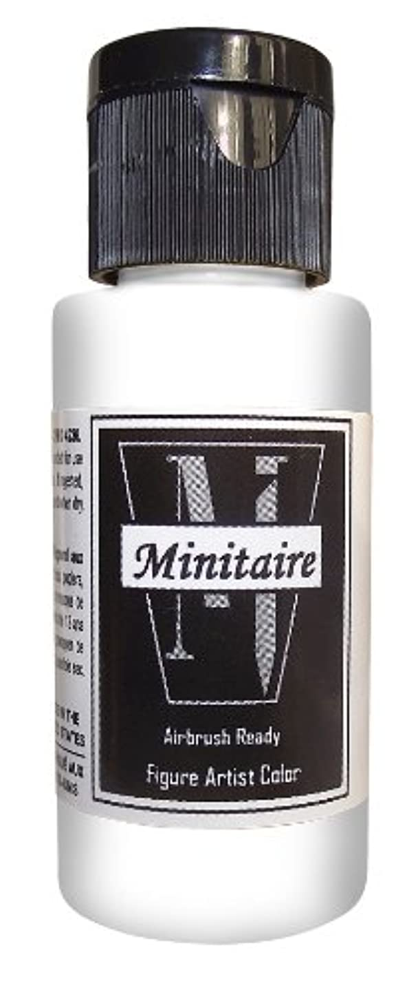 Badger Air-Brush Company Miniature Airbrush Ready Water Based Acrylic Paint Bottle, 2-Ounce, Flat Coat