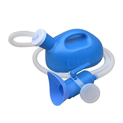 Urinflasche Für Damen Herren, Langhalsig Tragbare Notfall Urinal Toilette Für Reisen Camping Unterwegs Outdoor Auto Reise, 2000ML (Blau,1.6M)
