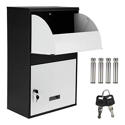 Caja grande para paquetes Caja de entrega segura a prueba de agua Caja de entrega segura Cajas postales Montado en la pared Impermeable al aire libre Seguro Caja de almacenamiento